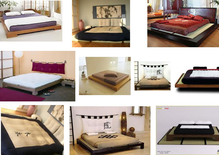 Letto tatami o giapponese for Pavimento giapponese